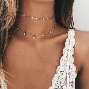 CAPRI ✨ Gold Chain Boho Stars Choker Necklace